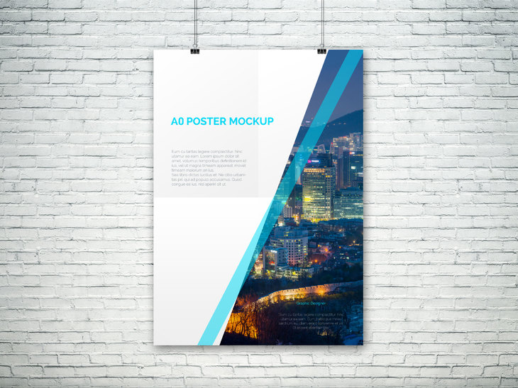 Curated collection of Free PSD Poster Mockups to present