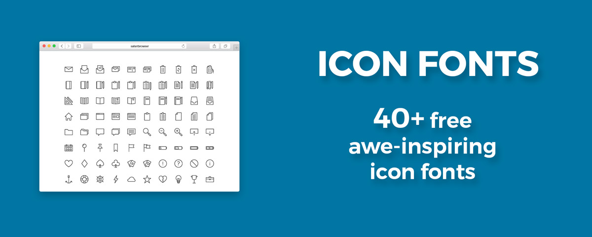 Icon fonts: List of 41 Beautiful & Free Icon Fonts