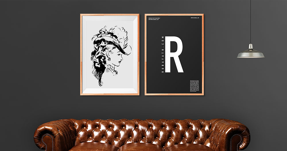Wooden Art Frames in the living room PSD Mockup by Tech and allCurated collection of Free PSD Poster Mockups to present your  . Frames For Living Room. Home Design Ideas