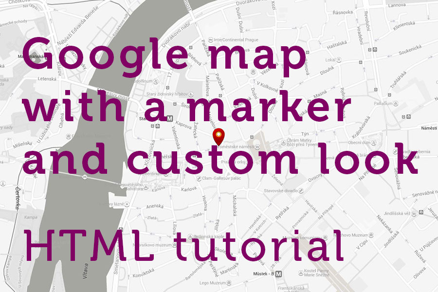 Google maps and Bootstrap Tutorial - Step-by-step: Custom